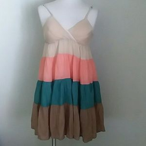 Poetry clothing 4 tone color strap dress